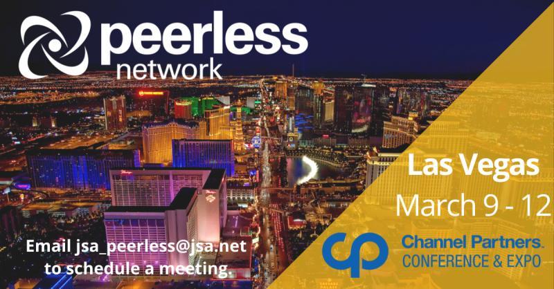 Meet Peerless Network at Channel Partners, March 9-12 in Las Vegas!
