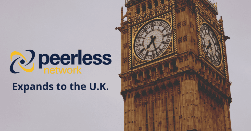 Peerless Network Announces International Expansion to the U.K.