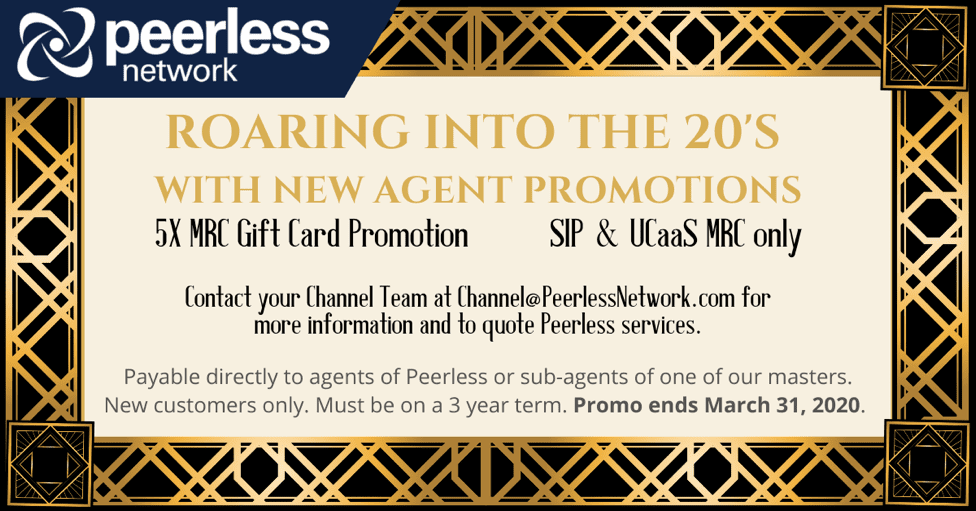 Attention Agents! Earn 5X MRC on SIP & UCaaS Deals with Peerless Network!